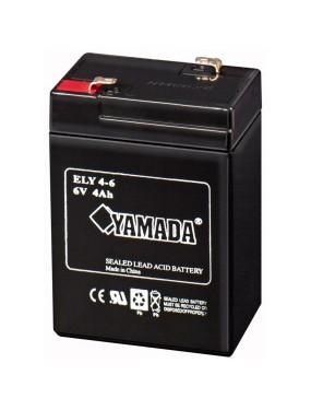 Batteria ricaricabile piombo 6V 4aH