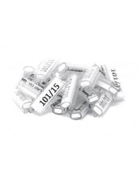 GRAFOPLAST-tubetti per cordina da 0.5 a 2.5 mm2 lunghezza tubetto 15mm,CONFEZIONE DA 1000 PZ