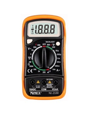 Elcart 09/07800 - Tester Multimetro Digitale NI2100u