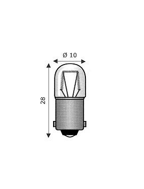 Lampada Miniatura 10x28 220-260V 3W Attacco BA9S