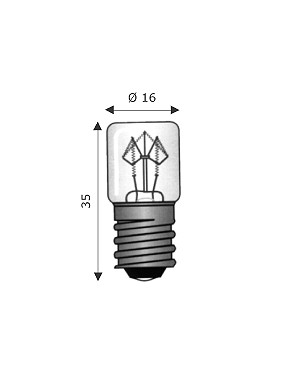 Lampada E10 10x25 220-250V 1.5mA