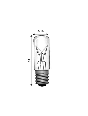 Lampada Tubolare E14 15x54 380V 10W