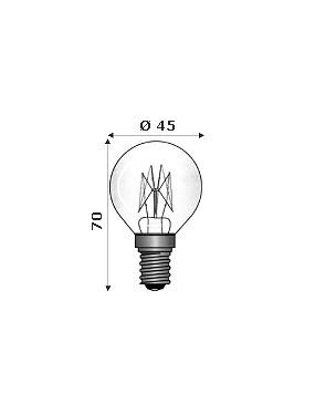 Wimex 4102192 - Lampada Ad Incandescenza Per Forni 300° E14