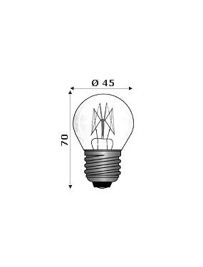 Lampada Ad Incandescenza Per Forni 300° E27