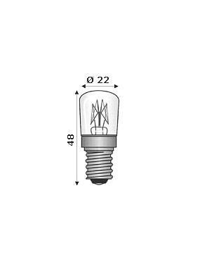 Wimex 4102197 - Lampada Ad Incandescenza E14 220/240V 15W Per Forni 300°