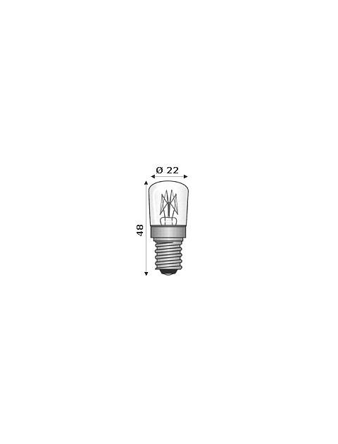 Lampada Ad Incandescenza E14 220/240V 15W Per Forni 300°