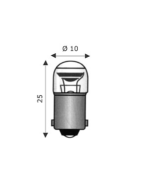 Wimex 4102208 - Lampada BA9S 10x25 220-240V 1.5mA