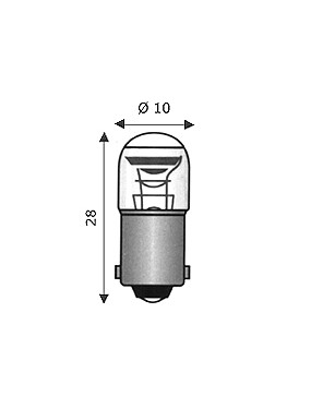 Wimex 4102271 - Lampada BA9S 10X28 220-250V 1.5mA