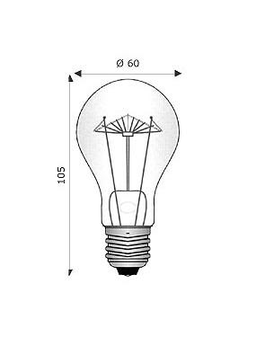 Wimex 4130114 - Lampada Ad Incandescenza 60W 24V E27